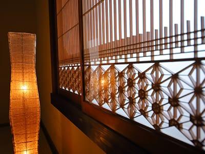 町家小宿京のおおぞら 2階華の間書院戸