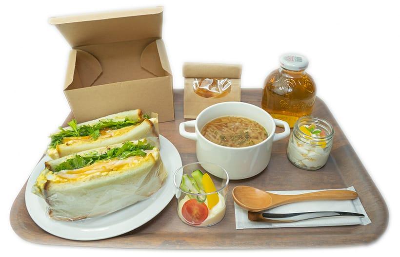 サンドイッチ朝食