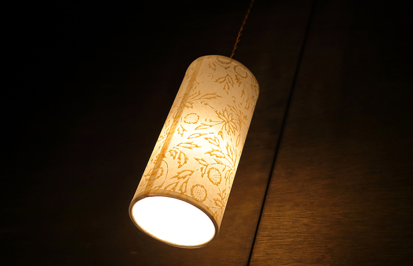 「京からかみ」のオリジナル照明